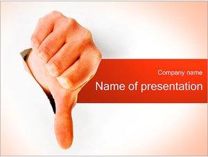 Шаблон презентации PowerPoint: Отрицательный жест (дизлайк)