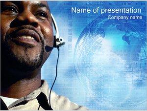 Шаблон презентации PowerPoint: Оператор связи