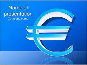 Шаблон презентации PowerPoint: Знак евро