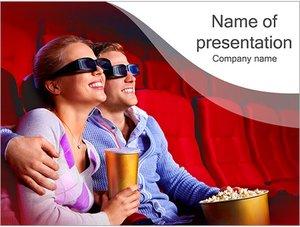 Шаблон презентации PowerPoint: Пара в кино