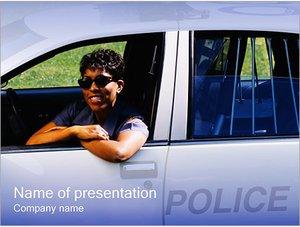 Шаблон презентации PowerPoint: Американский полицейский
