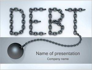 Шаблон презентации PowerPoint: Кредитная задолженность