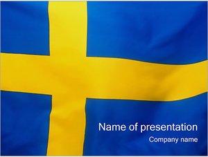 Шаблон презентации PowerPoint: Шведский флаг