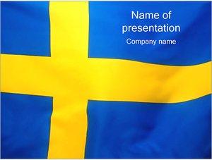 Шаблон презентации PowerPoint: Флаг Швеции