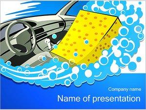 Шаблон презентации PowerPoint: Автомобильная мойка