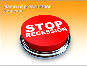Шаблон презентации PowerPoint: Кнопка СТОП