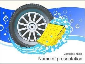Шаблон презентации PowerPoint: Автомобильное колесо