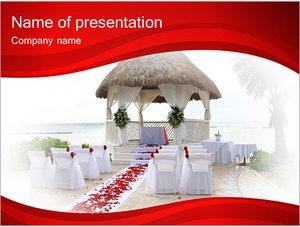 Шаблон презентации PowerPoint: Украшение свадебного зала