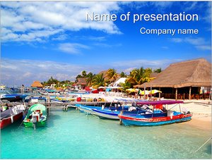 Шаблон презентации PowerPoint: Пляж с яхтами