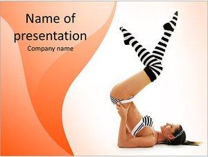 Шаблон презентации PowerPoint: Утренняя зарядка, тренировка