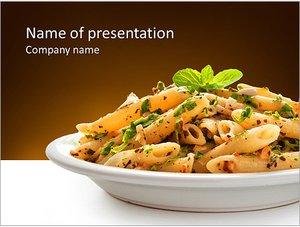 Шаблон презентации PowerPoint: Макароны на тарелке