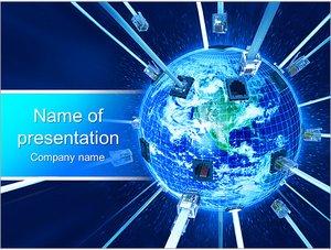 Шаблон презентации PowerPoint: Глобальная сеть интернет