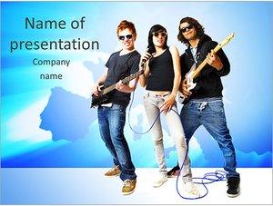 Шаблон презентации PowerPoint: Рок группа