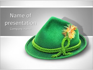 Шаблон презентации PowerPoint: Зеленая шляпа