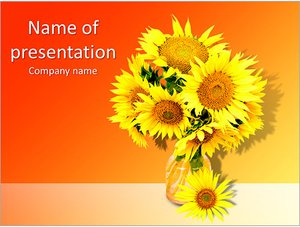 Шаблон презентации PowerPoint: Подсолнухи в вазе