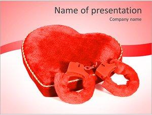 Шаблон презентации PowerPoint: Сердце и наручники