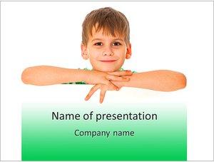 Шаблон презентации PowerPoint: Мальчик с улыбкой