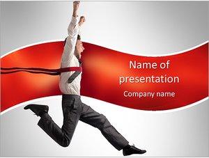 Шаблон презентации PowerPoint: Радостный менеджер