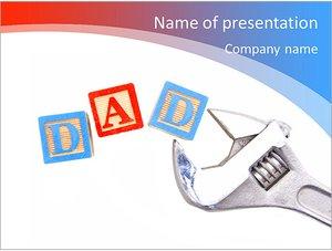 Шаблон презентации PowerPoint: Папа и отец