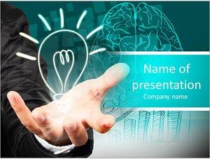 Шаблон презентации PowerPoint: Бизнесмен с успешными идеями