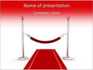 Шаблон презентации PowerPoint: Красная ковровая дорожка