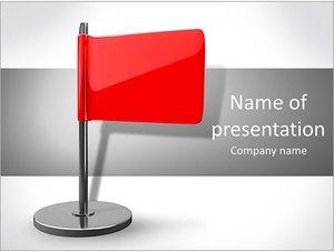 Шаблон презентации PowerPoint: Красный флаг