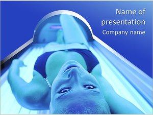 Шаблон презентации PowerPoint: Женщина в солярии