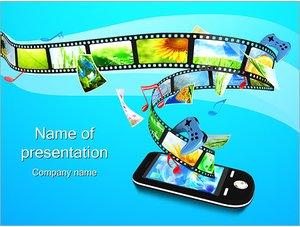Шаблон презентации PowerPoint: Фотолента в телефоне