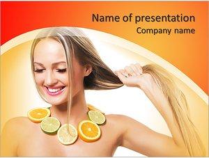 Шаблон презентации PowerPoint: Маска для оздоровления волос и лица