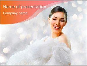 Шаблон презентации PowerPoint: Танцующая невеста