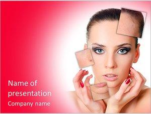 Шаблон презентации PowerPoint: Красивая девушка с проблемной кожей лица