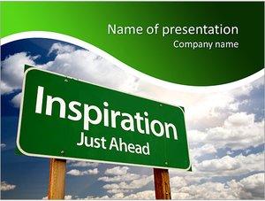Шаблон презентации PowerPoint: Дорожный знак