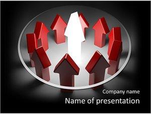Шаблон презентации PowerPoint: Лидер направляет всех