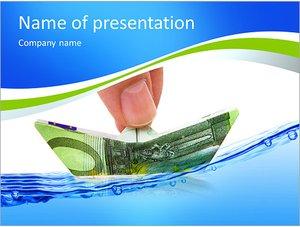 Шаблон презентации PowerPoint: Кораблик из денежных банкнот