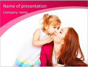 Шаблон презентации PowerPoint: Счастливая мать и ребенок