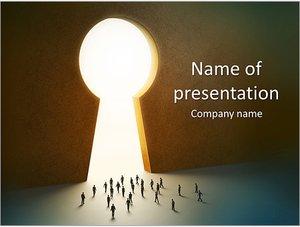 Шаблон презентации PowerPoint: Выход - дыра для ключа