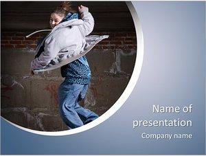 Шаблон презентации PowerPoint: Девушка танцует хип-хоп