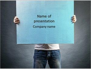 Шаблон презентации PowerPoint: Мужчина с холстом в руках