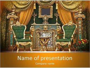 Шаблон презентации PowerPoint: Королевский интерьер