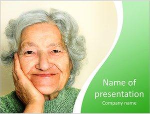 Шаблон презентации PowerPoint: Бабушка