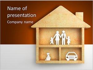 Шаблон презентации PowerPoint: Дом для семьи