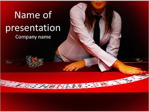 Шаблон презентации PowerPoint: Карты на столе в казино