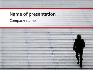 Шаблон презентации PowerPoint: Вверх по лестнице