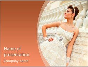 Шаблон презентации PowerPoint: Невеста в свадебном платье