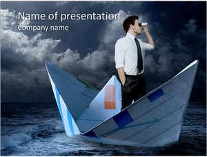 Шаблон презентации PowerPoint: Бизнесмен ищет новые пути развития