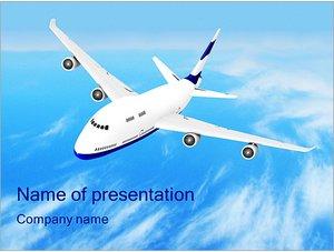 Шаблон презентации PowerPoint: Самолет в небе