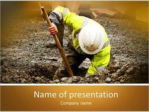 Шаблон презентации PowerPoint: Работник коммунальных служб