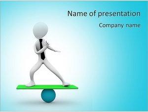Шаблон презентации PowerPoint: Балансирующая фигурка человека