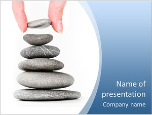 Шаблон презентации PowerPoint: Пирамида из камней