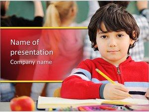 Шаблон презентации PowerPoint: Ученик за партой